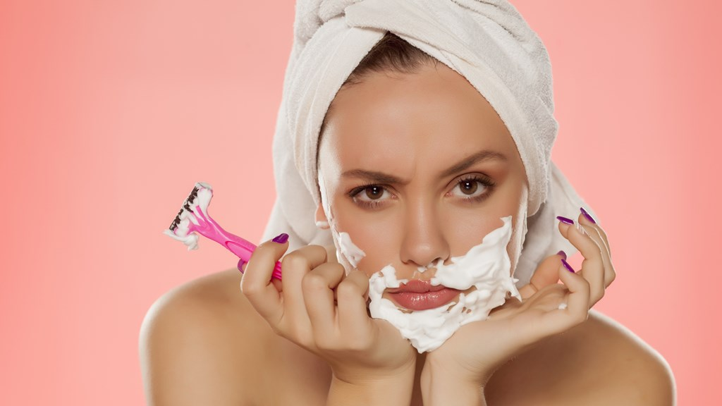 Frustrated women shaving